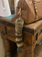 Authentic Raccoon Tail Keychain