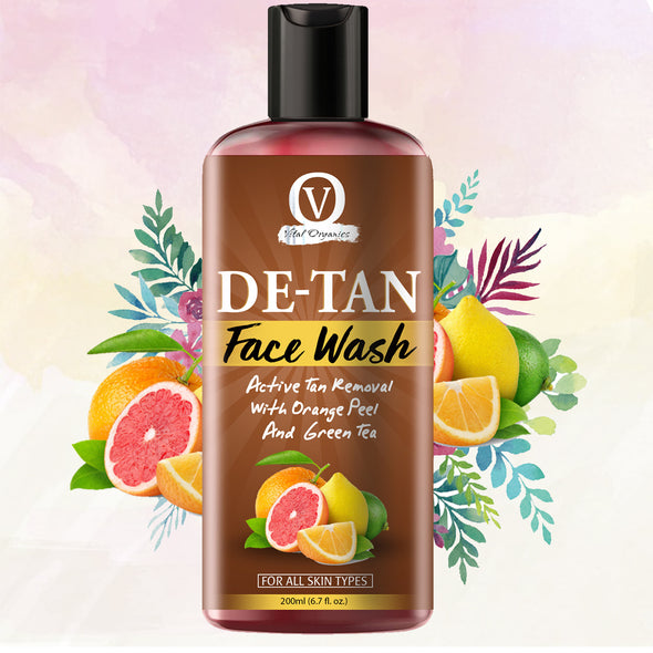 De Tan Face Wash for Men and Women - buyvitalorganics