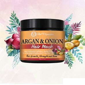 Argan Oil Hair Mask With Egg, Banana, Aloe Vera and Keratin. - buyvitalorganics