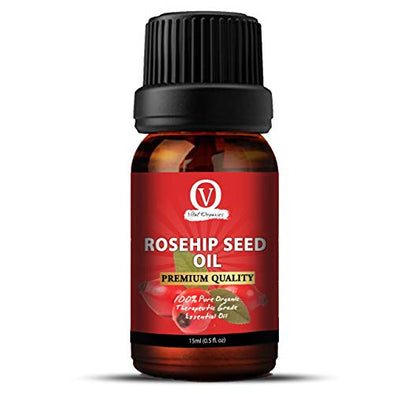 Rosehip Oil for Skin, Hair, Nails & Acne Scars 100% Pure, Cold Pressed, Unrefined. Essential Oil for Face, Nails, Hair, Skin. Therapeutic AAA+ Grade