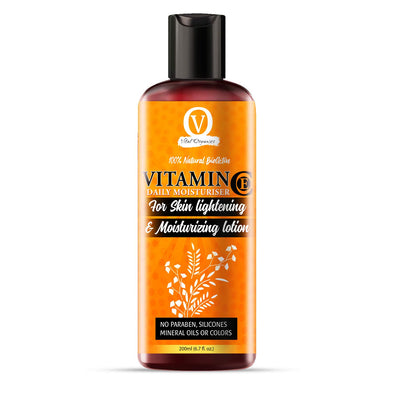 Vital Organics Vitamin C Moisturizing Lotion for Face & Neck for Skin Lightening, Anti-Aging, Wrinkles, Age Spots, Skin Tone, Neck Firming, and Dark Circles 200ml