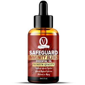 Vital Organics Safeguard Immunity Blend (Thieves Blend) Essential Oil Natural Germ Fighter - Guard Against Germs - Diffuse or Apply