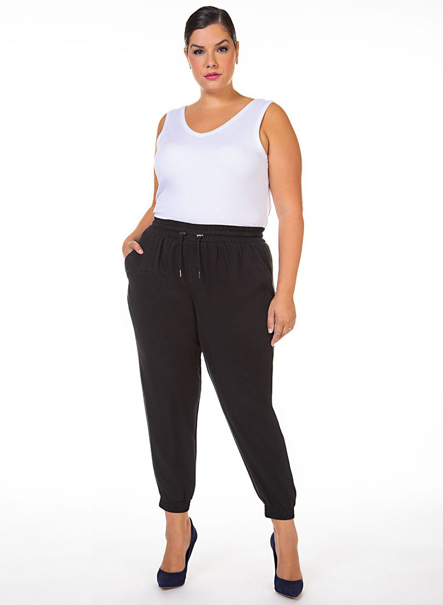 Ladies Plus Soft Drawstring Jogger