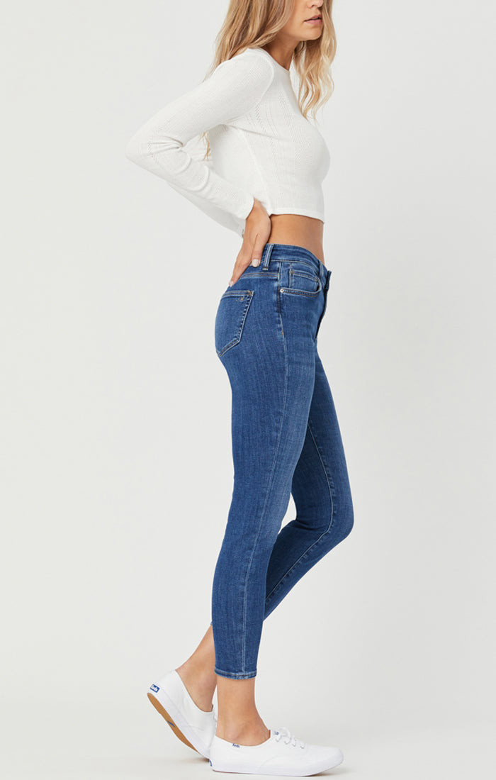 "Tess Dark Feather Blue Jean - 31"" inseam"
