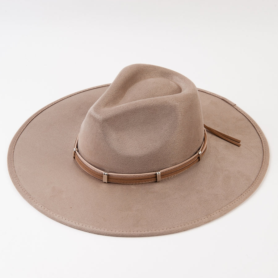 Ascot Sueded Fedora with Trim