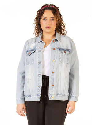 Ladies Plus Oversized Denim Jacket