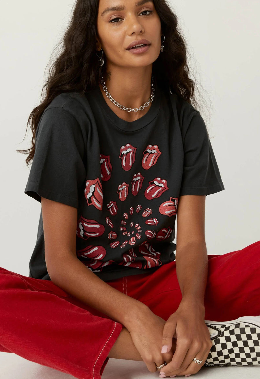 Rolling Stones Spiral Tongue Weekend Tee
