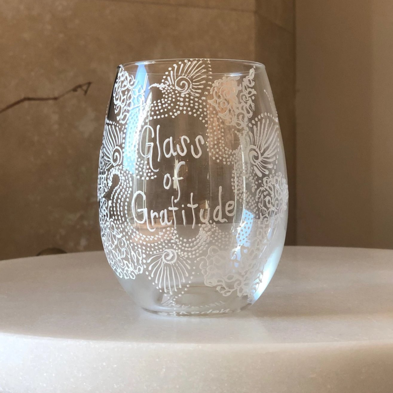 Mehndi Expressions Wine Glass