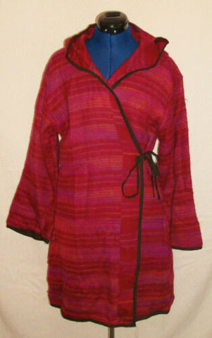 Cashmelon Poncho-pointy hood&toggles-.pINK OR GREEN-snuggly,fleecy warmth.