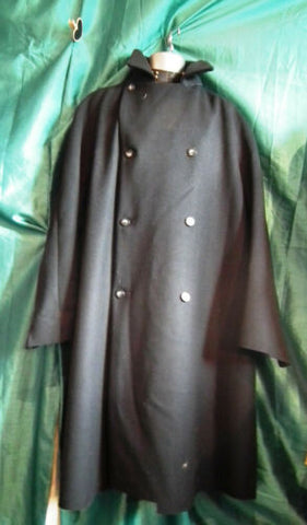 UNISEX,Peaky blinders style heavy wool,navy trenchcoat,lined 50
