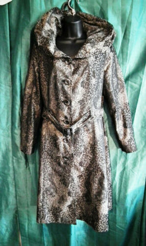 animal print, ruffle collar,Womens per una animal print trench coat size 12-belt