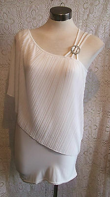 fab size12+ WHITE,off-shoulder/strappy party/summer dress&diamante fastening