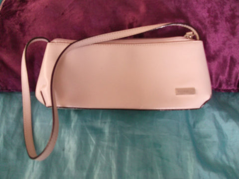 Fiorelli cream leather small shoulder bag-1strap.zip fastener/innner pocket