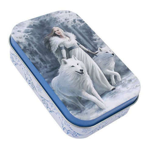 Gothic/Pagan/New AGe/Celtic small Winter Guardian Tin by Anne Stokes 9.6cm x6cm