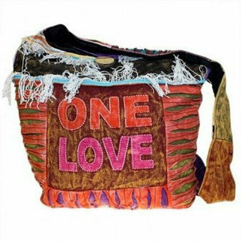 NEW bOHO/FESTI/HIPPY Patchwork Bags - ONE LOVE shoulder bag/sling bag 36 X 36CM.