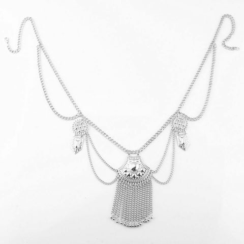 Belly Chain Tassel Silver Golden Plated Waist Bikini Body Chain Jewelry