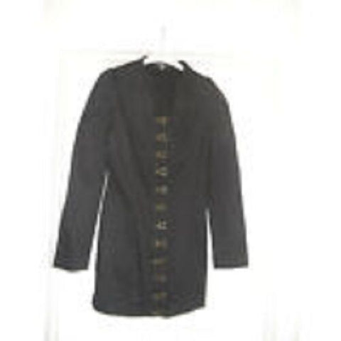 FUNKY PUNK black STEAMPUNK JACKET/dress. size 12