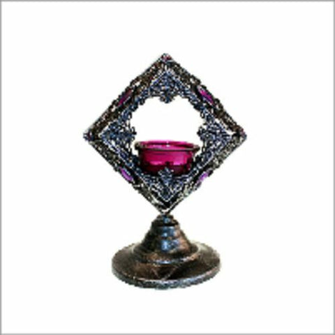 GORGEOUS PURPLE Moorish Single square Candle Holder/Candle Pots