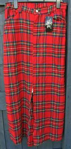 Punk/Goth/Emo Fashion Statement Tartan Long Split Skirt Tiger of London  34