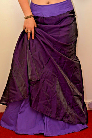 Handmade long purple Gothic skirt, costume photo prop Halloween Gothic
