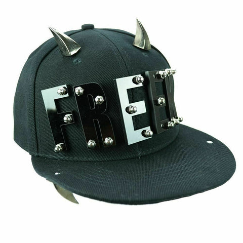 Poizen industries FREEK stud Cap Black Dance crew PUNK goth street.STATEMENT