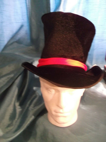 punk/cosplay/festi/stagewear/costume/BLACK VELVET MAD HATTER FOLDUP