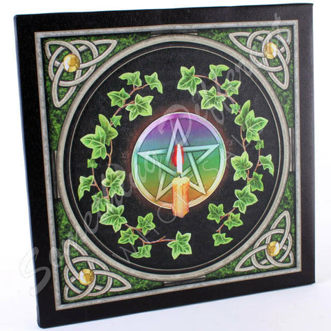 PAGAN/WICCAN/NEW AGE Pentagram plaque plaque .by Lisa Parker.Approx 29cm wide