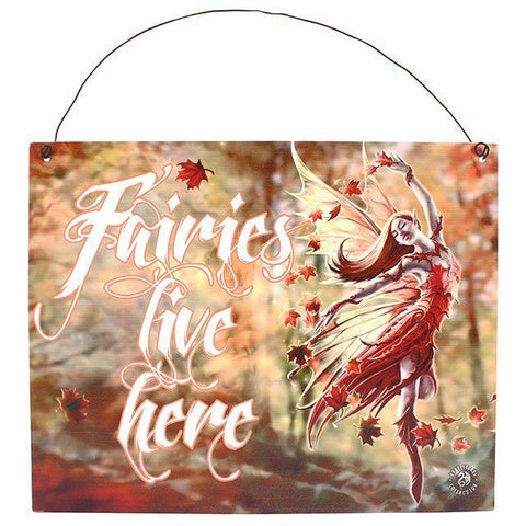 PAGAN/WITCHY /GOTHIC/HALLOWEEN Autumn Faerie Metal Sign AnneSTokes.24cm x19cm