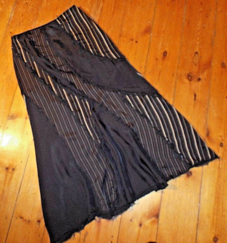 Beautiful maxi Steam Punk, Victorian style maxi skirt - size 12 - fab condition