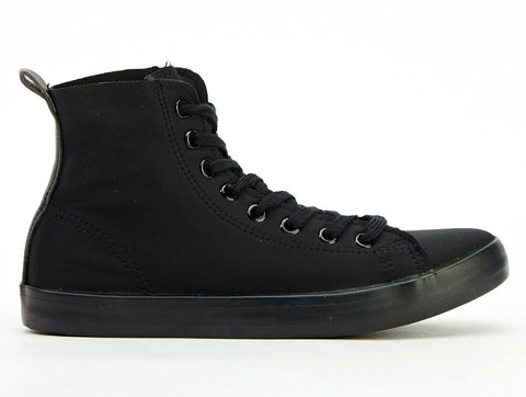 #New Bitchin New Black High Top Black Trainers/Bumper boots Punk/CosPlay/Festi/