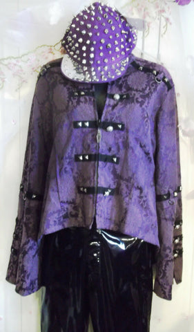 new without tags.punk/goth living dead soul purple jacket with studs accents