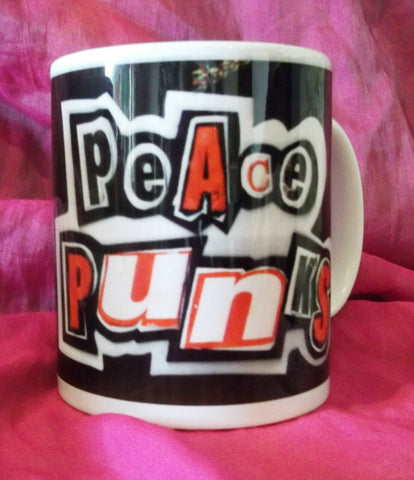 original, exclusive designer Peace Punk Mug   ANARCHO PUNK SEX PISTOLS