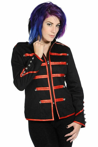 PUNK/STAGEWEAR Banned Military Drummer Red Jacket XS UK 8