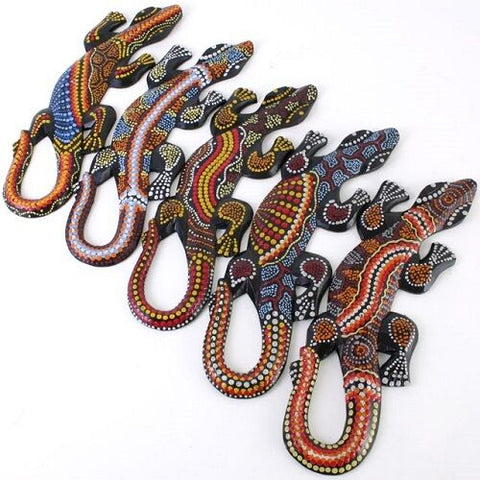 PERFECT GIFT ITEM-30cm HAND-painted gegko. Handmade in Bali.30cm long