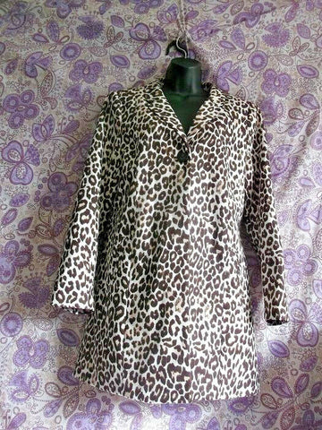 H&M SIZE 8 FUNKY STYLISH Women's Leopard Print Coat-LINED. GORGEOUS