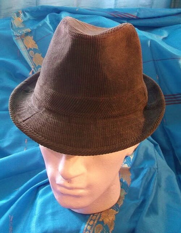 Gangstar/CosPlay/Fancy dress Trilby Hats all *NEW*high quality-khaki colour