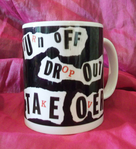 original,exclusive designerMug-TurnOff,DropOut,TakeOver ANARCHO PUNK SEX PISTOLS