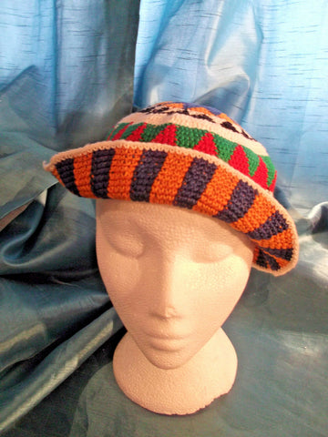 punk/cosplay/festi/stagewear/costume/WOOLEN HAND-MADE orange DESIGN.58CM/23