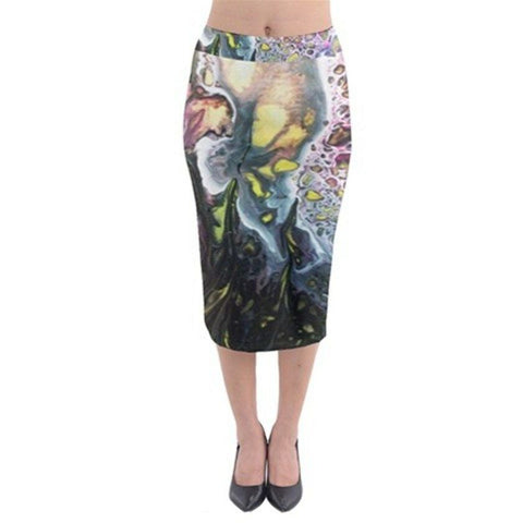 MOON SCAPExclusive Original Designer  Midi Pencil Skirt Size:Medium10-12uk