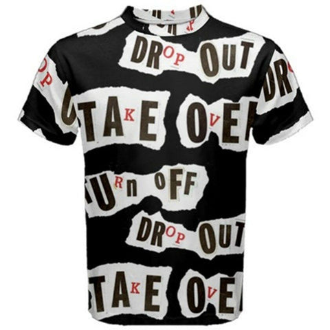 DROP OUT Exclusive,Original Designer mens SHORT sleeve tee Size L-42