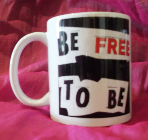 original,exclusive designerMug-Be Free To Be ANARCHO PUNK SEX PISTOLS