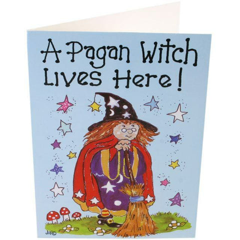A Pagan lives here  Witch Smiley Cards.pagan/wiccan/new age