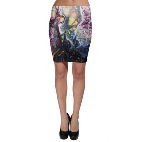 MOON SCOPE Exclusive OriginalDesigner Bodycon skirt-knee length Size:Med10-12uk
