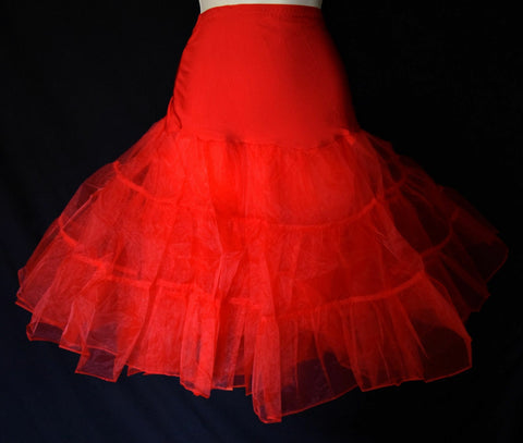 BRAND NEW LIPSTICK RED ORGANZA 1950s STYLE FLOUNCY PETTICOAT, 10/12/14