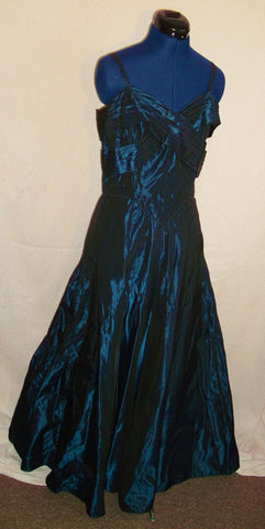 Moeman Young London-Vntage Taffeta eve dress,midnight blue.starched underskirts