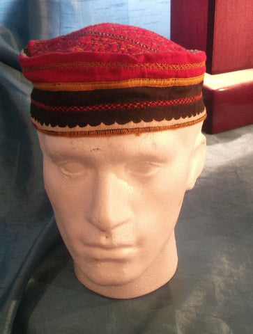 punk/cosplay/festi/stagewear/costume/ RED FEZ STYLE HAT WITH DOT 29