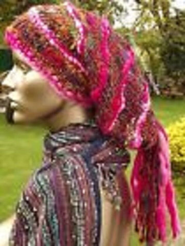 FAB NEW UNISEX HIPPIE HAT DREADS BOHO RED GREEN RAINBOW FESTIVAL BOHO HIPPY