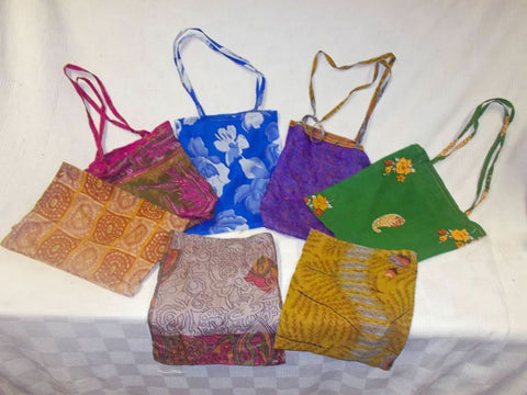 gorgous silk Sari Shopper Shoulder/Beach Bags Lightweight