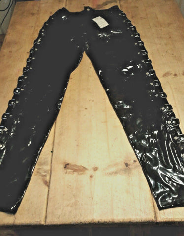 PUNK/CYBER Pvc trousers fetish goth alternative cyber punk bondage trousers.28