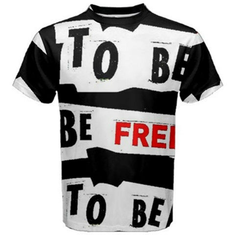 BE FREE Exclusive,Original Designer mens SHORT sleeve tee Size L-42
